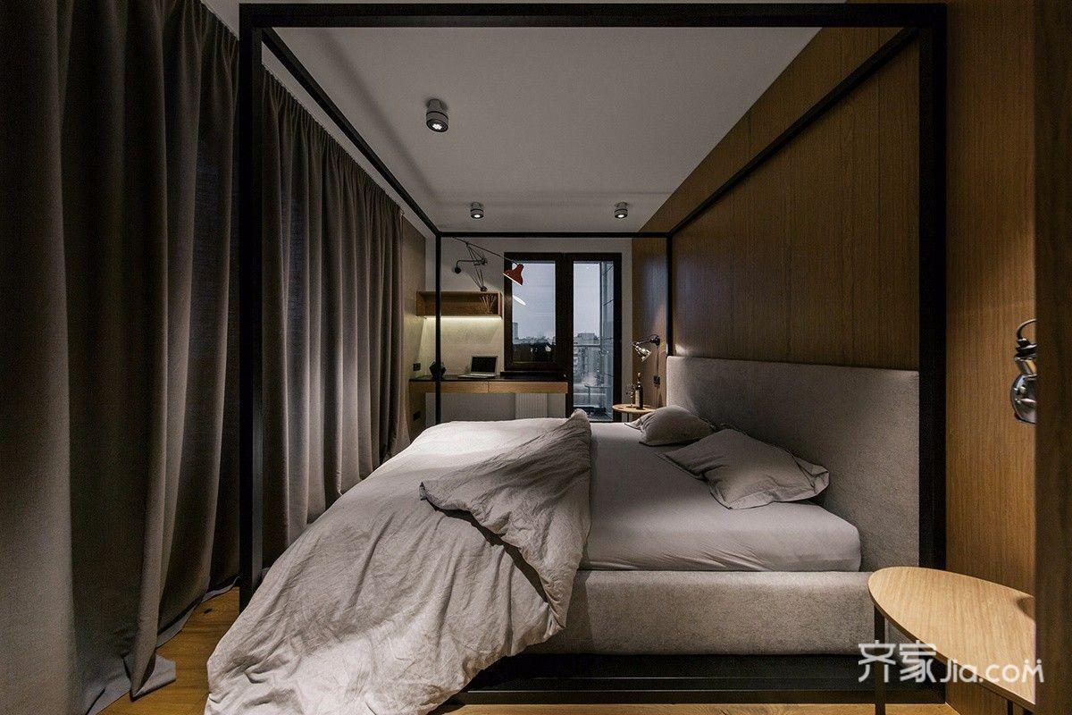 轻工业风格公寓卧室装修效果图2/5