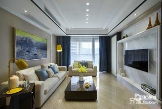 90平二居室现代简约装修效果图