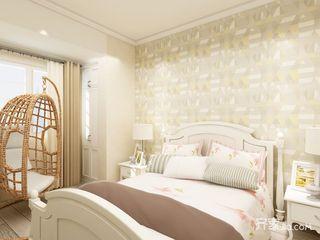 现代北欧风三居卧室装修效果图图片