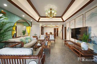 90平新中式三居室装修效果图