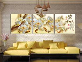 客厅装饰画图片大全欣赏  绝美装饰画让客厅更出彩