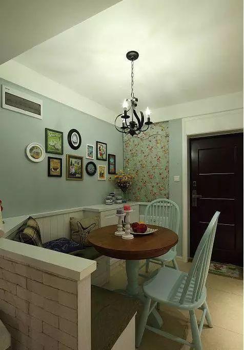 家装 超美的小户型餐厅卡座,1平米的空间也要浪漫情调!