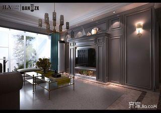 140㎡美式三居室装修效果图
