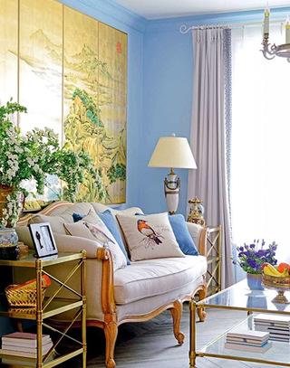 多彩墙面漆沙发背景墙