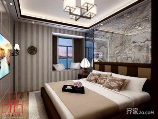 70平米新中式风格装修飘窗设计图图片