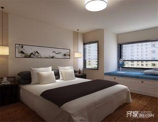 现代简约风格卧室2013二居室大气12平米卧室装修效果图