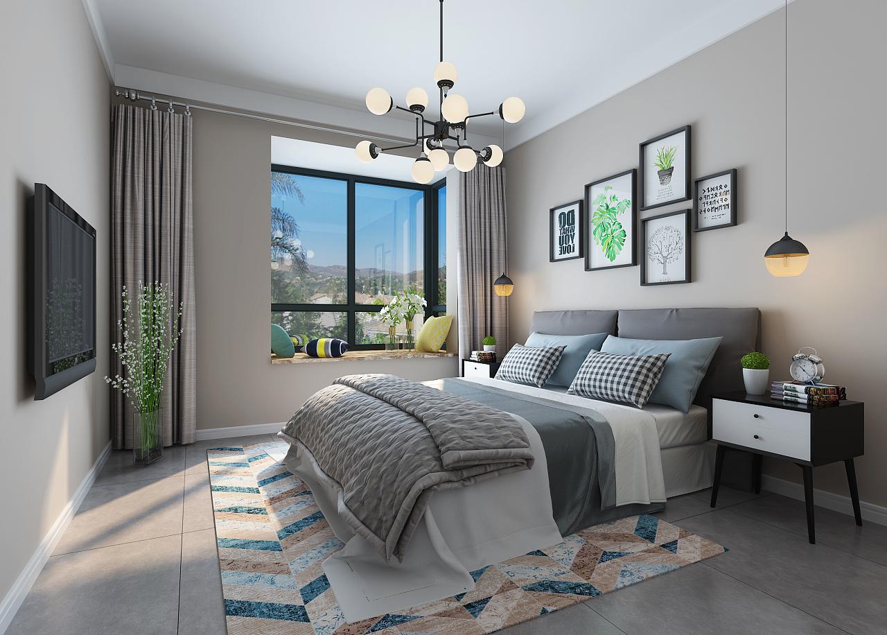 二,北欧风格卧室搭配:色彩