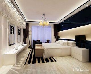120平简约风装修卧室设计图
