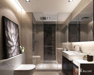 100平新中式风格家卫生间设计图