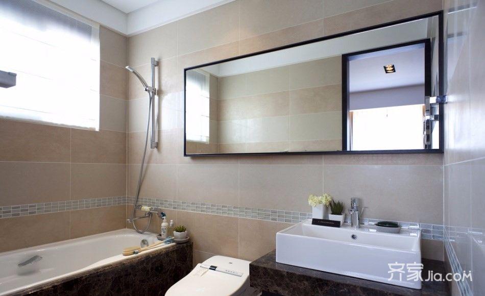 新中式二居室卫生间效果图