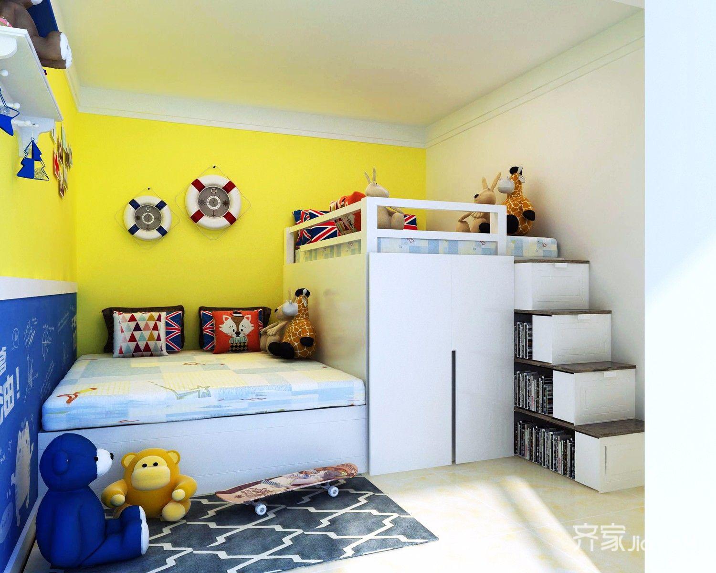 二居室混搭装修儿童房装潢图