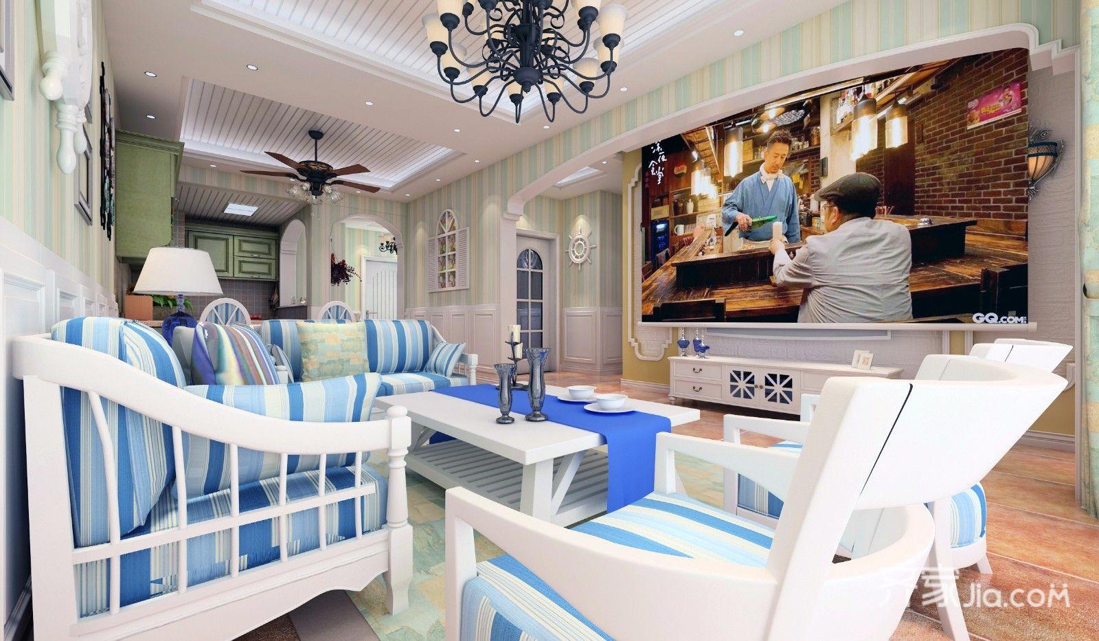 二居室田园风格家沙发图片