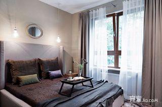128㎡现代美式家卧室效果图