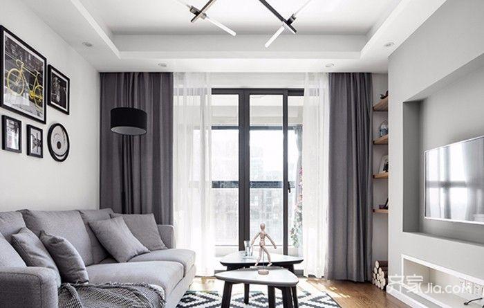 130平北欧风格装修客厅效果图