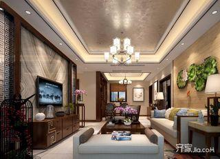 90平中式装修客厅效果图