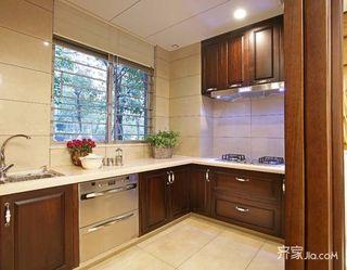 90平中式装修厨房实景图