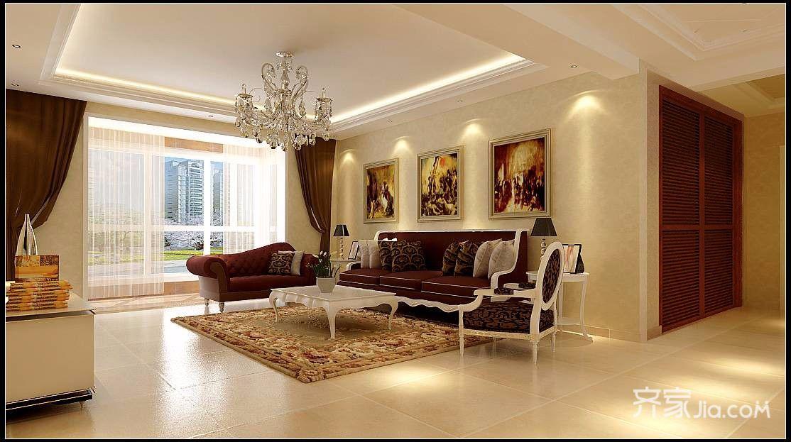 150平欧式之家客厅效果图