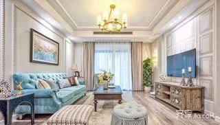 美式三居室设计客厅效果图