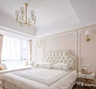 二居室法式混搭装修卧室欣赏图