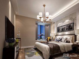 新中式二居室装修卧室效果图