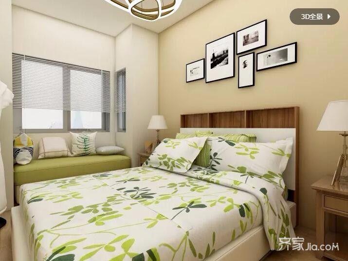 60平田园之家卧室效果图