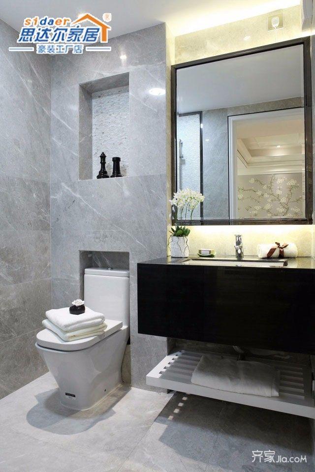 130平欧式风格装修卫生间效果图