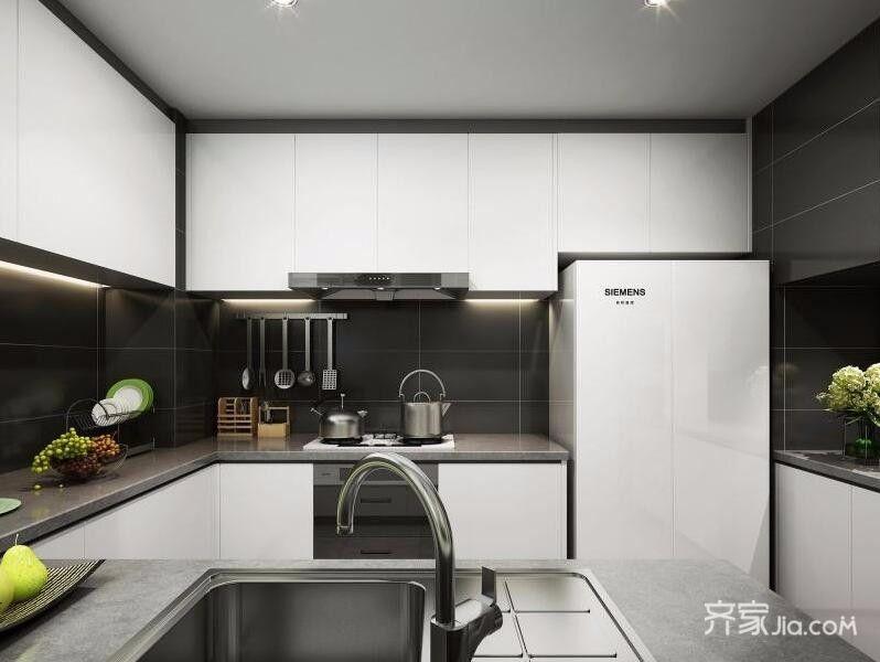 二居室简约风厨房装潢图