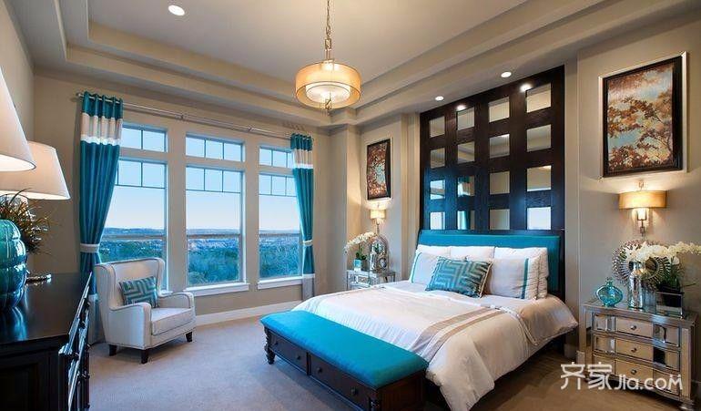 140㎡地中海风格次卧室设计图
