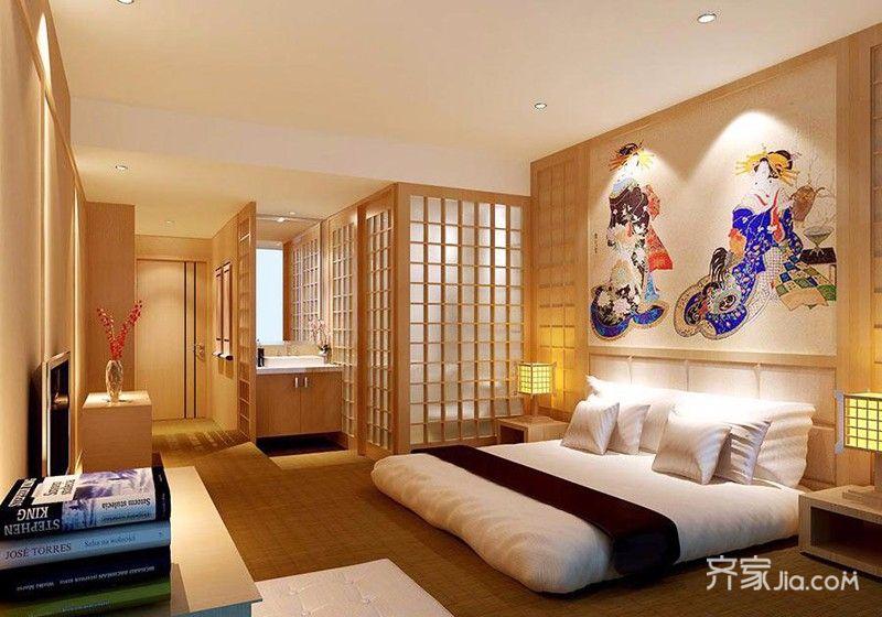 二居室日式风格家主卧效果图
