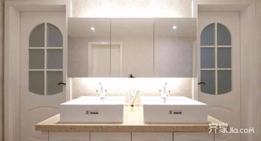 136㎡美式风格装修卫生间装潢图