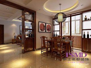 三居室中式风格装修餐厅布置图
