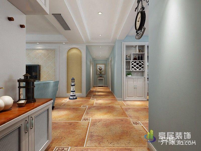 130平地中海风格装修客厅过道