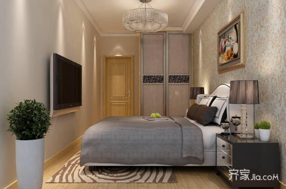 75平简约简约风格装修卧室效果图