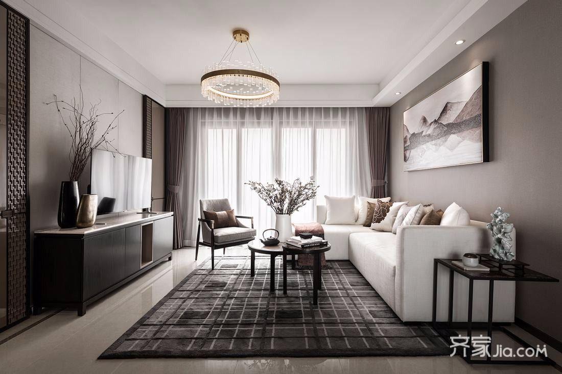 160平古典之家客厅效果图