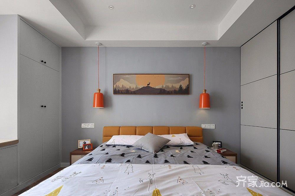 100平米简约风格装修卧室效果图