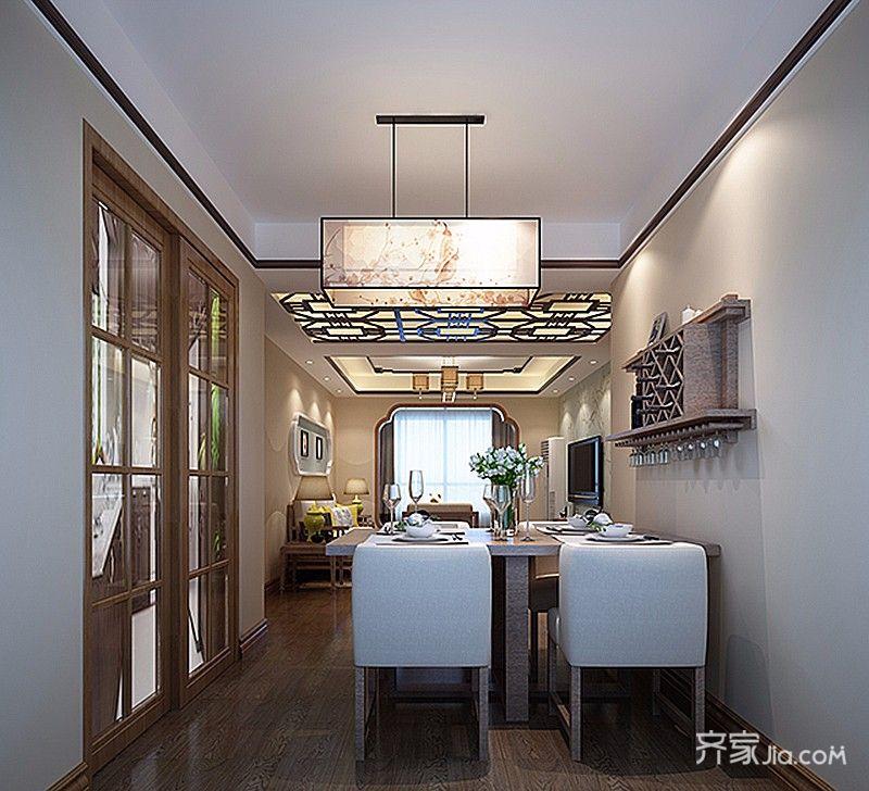 85平中式装修餐厅效果图