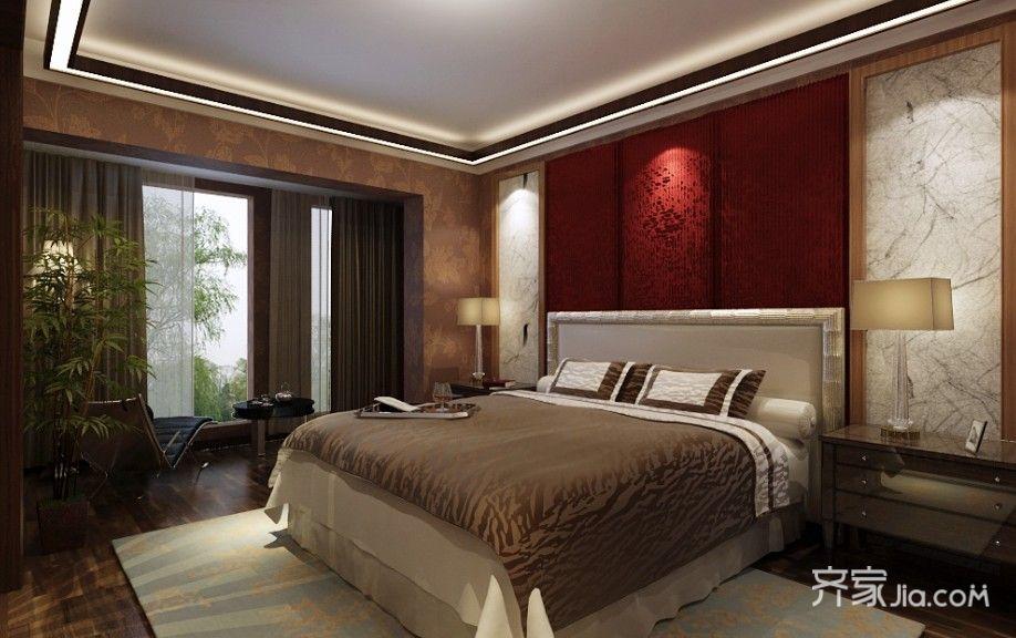 大户型中式风格设计卧室装潢图