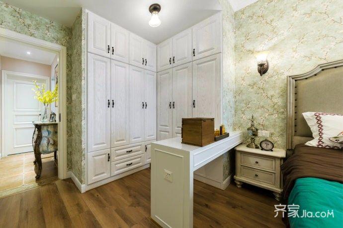 140㎡美式风格装修卧室衣柜书桌台图片