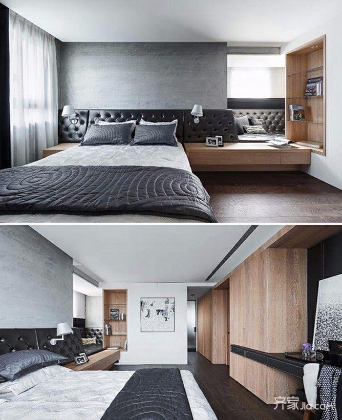 150平简约风格之家卧室设计图