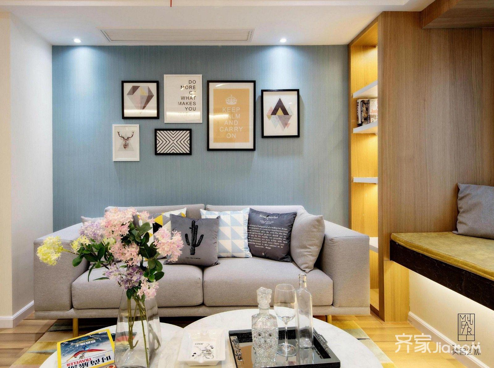 欧式二居室样板间沙发背景墙图片