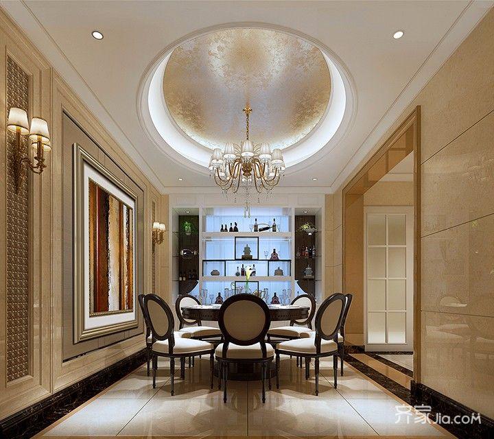 大户型古典风装修餐厅效果图