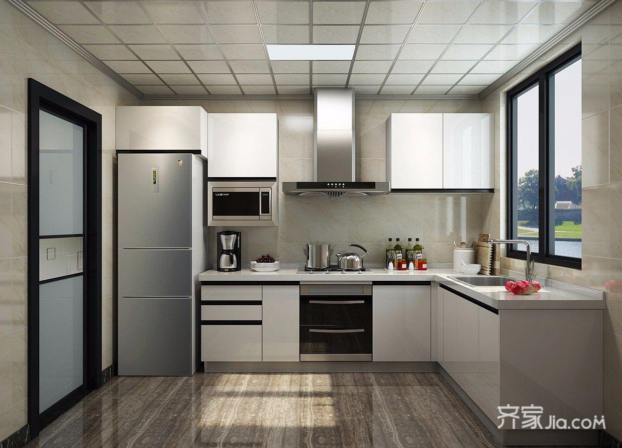140㎡简约风格装修厨房设计图