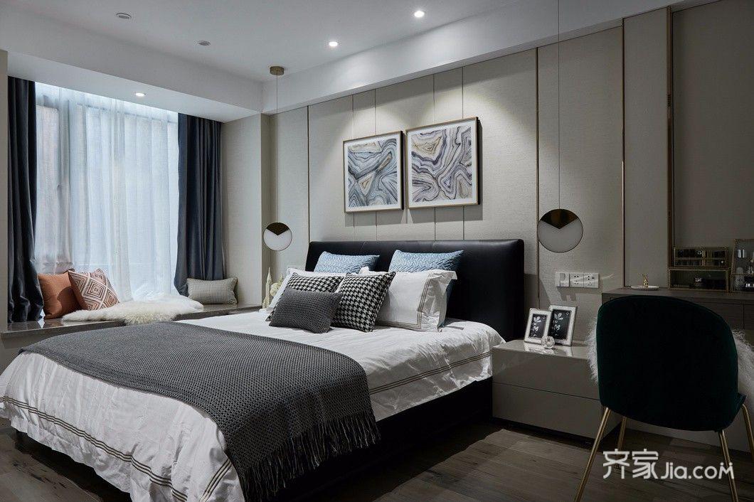 现代简约风格装修卧室欣赏图