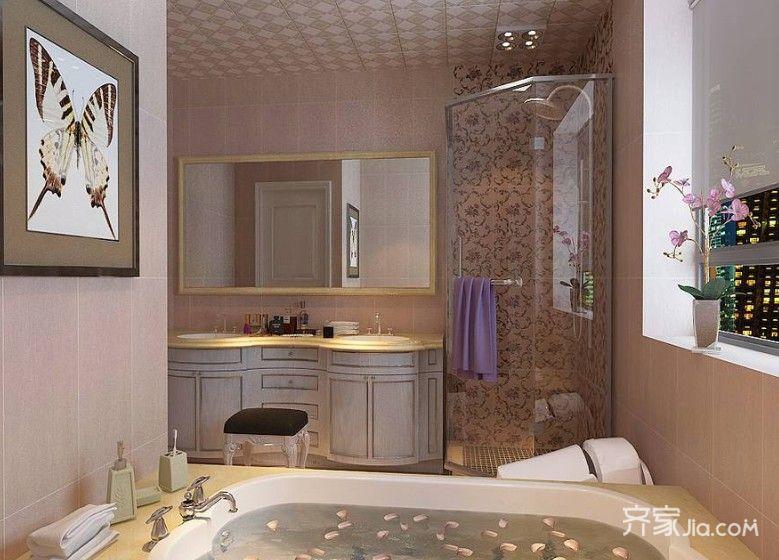 大户型欧式风格装修卫浴间效果图