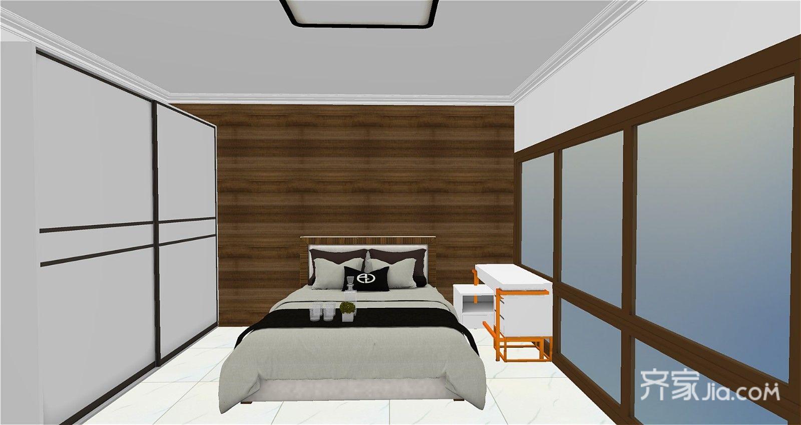40平现代简约风格装修卧室设计图