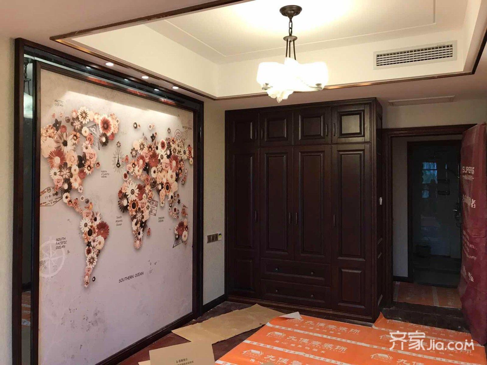 中式三居室装修次卧装潢图