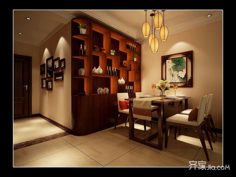 90平的中式装修餐厅效果图