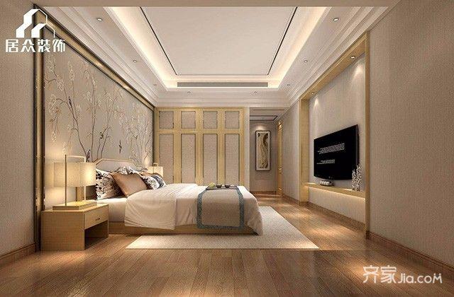 大户型简约风格装修卧室设计图