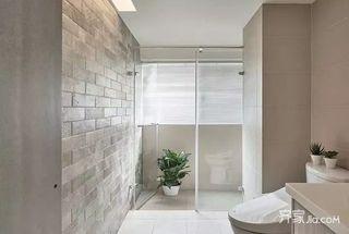 130㎡北欧风格三居室装修卫浴间装潢图