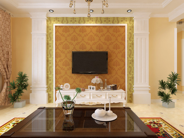 电视背景墙材料有哪些3,造型多变的石膏板 这一款装修材料的最大